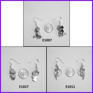 Pierced Earrings, Birds - 3 Different Pairs